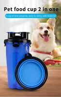 2 in 1 Portable Dog Water Dispenser and Food Container