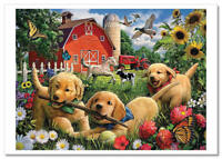 FUNNY Animals Dogs Cottage Farm  Art collection Russian modern Postcard