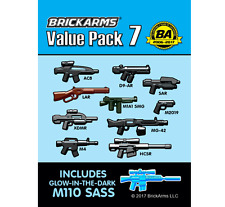 BRICKARMS Value Pack #7 Weapon Pack w/ GLOW M110 SASS for Lego Minifigures NEW