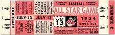 1 1954 ALL-STAR GAME VINTAGE UNUSED FULL TICKET BASEBALL reproduction laminated!