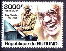 Burundi 2011 MNH, Ray Charles, American singer, songwriter, musician, composer