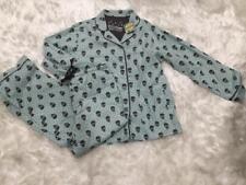 NWT PJ Salvage Light Blue Cotton Flannel Grey Skull Pajamas Set Small
