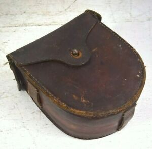 VINTAGE LEATHER DRUM MAG POUCH