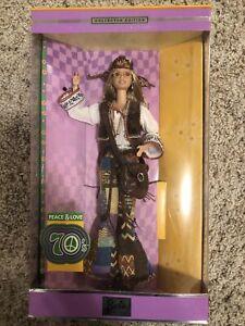 New Peace & Love 70s 2001 Barbie Doll Mattel NIB FREE SHIP Collector Edition