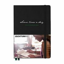 Leuchtturm1917 'Some Lines a Day' 5 Year Black Memory Book