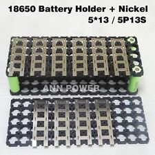 5*13 (5P13S) 18650 Battery Holder And Pure Nickel For 13S 48V 10Ah 15Ah Lithium