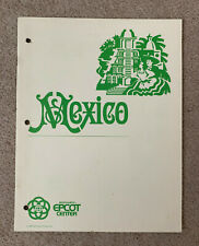1982 Epcot Center Cast Member Mexico Booklet Details Experience and Story
