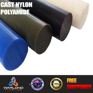 Cast Nylon Rod - Select (Grade - Diameter - Lengths) - Free Shipping!