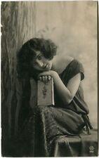 1922 Ritratto Giovane Donna Libro Centro Poste Italiane FP B/N VG
