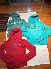 3 Pre-owned Junior Girl Hollister: Long Sleeve Hoodies&1/2 Sleeve Zip-Up Size M