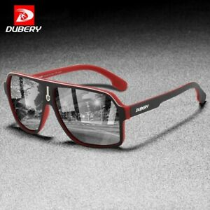 DUBERY Fashion Men Polarized Sunglasses TAC Mirror Outdoor Sport Goggles UV400