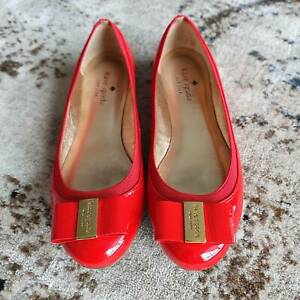 Genuine Kate Spade Red Patent Leather Ballet Flats - Like New, Hardly Worn