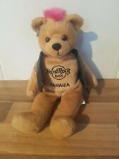 HARD ROCK CAFE Punk Bear 2009 Panama pink Mohawk beanie plush