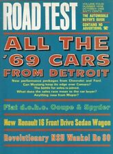 ROAD TEST MAGAZINE 1968 OCT - NEW AMERICAN CARS, FIAT 124s, RENAULT 16, Ro80