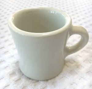 Iroquois China Heavy Thick White Coffee Cup Mug USA Restaurant Ware Vintage