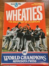 ⚾️ 1987 Minnesota Twins World Series Champions Wheaties Box