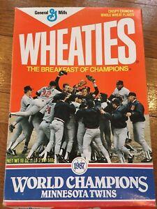 ⚾️ 1987 Minnesota Twins World Series Champions Wheaties Box