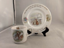 "Wedgwood Mrs Tiggy Winkle 7"" Child's Plate and Mug Set"