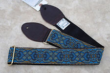 SOULDIER Guitar Strap ARABESQUE CUSTOM Blue Brown / Vintage Style Woven Tapestry