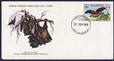 WWF enveloppe 1er jour  Mauritus  chauve sourie  renard volant
