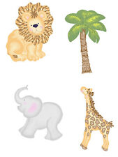 Jungle Animal Jamboree Palm Trees Lions Elephant 25 Wallies Wall Decals Stickers
