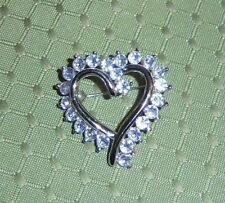 Dazzling Clear Rhinestone Heart Brooch