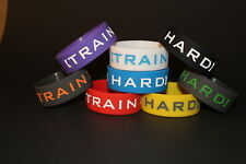 8 INSPIRATIONAL MOTIVATION SAYING  WRISTBAND TRAIN HARD