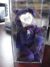 RARE 1997 Ty Beanie Baby Princess Diana PE No Space 464 Mark Hangtag with Case