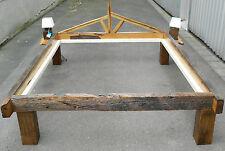Eichenholz BETT 200 jährigen Eichenbalken Liegefläche 160cm x 200cm Eiche