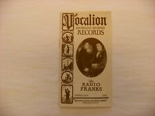 Original Vocalion Electrically Recorded Phonograph Record Catalog - Feb, 1926