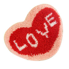 1 Set Diy Latch Hook Rug Kits with Heart Pattern for Cross Stitch Lovers