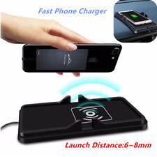 2in1 Qi Wireless Fast Charger Car Dashboard Phone Holder Mount Non-Slip Mat Tool