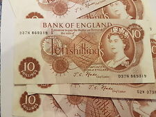 Ten Shilling Bank Note Fforde IN Collectable condition, see pictures for quality