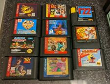 Lot of 11 Sega Genesis Games - Carts Only - Tested & Working