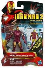 "IRON MAN 2 Movie Series_IRON MAN Mark VI with Power-Up Glow 3 ¾ "" figure_New_MIP"
