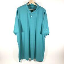 Nike Golf Dri Fit Short Sleeve Icon Heather Polo Shirt Green Mens 2Xl Xxl