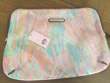 """NWT Juicy Couture New & Genuine Zipped Sequin Laptop Sleeve With Logo 14"""" x 11"""""""
