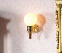 1/12 Scale Dolls House Emporium Brass Globe Wall Light 12V 7049