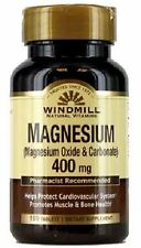 Windmill Magnesium Oxide 400 mg Tablets 100 ea
