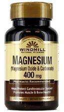 Windmill Magnesium Oxide 400 mg Tablets 100 ea