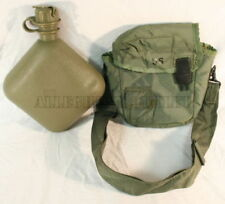 QTY 2 Military 2QT NEW Collapsible Canteens & M1 NBC Cap w/ QTY 2 USED VG Covers