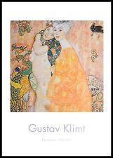 Gustav Klimt Freundinnen Poster Kunstdruck mit Alu Rahmen in schwarz 100x70cm