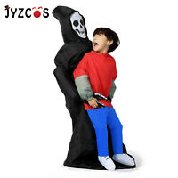 Devil Halloween Costume Skeleton Inflatable Dress Carnival Outfits for Adult Kid
