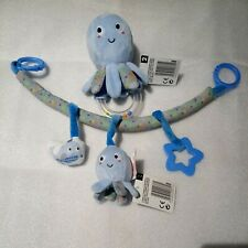 🐙 OCTOPUS BABY TEETHER/RATTLE / HANGING PLUSH  TOY.