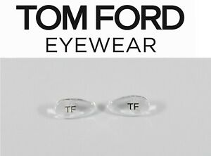 Replacement Snap-In Nose Pads for Tom Ford Eyeglasses Sunglasses Frames Silver
