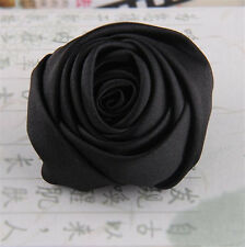 Women Bridal Wedding Silk Rose Flower Hair Clip Barrette Brooch Girl Accessories