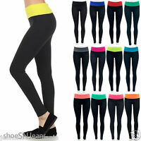 NEW Yoga Athletic Yoga Workout Training Lounge Color Fold Over Skinny Pants