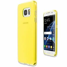 Yellow Ultra Slim Matte Hard Plastic Case Cover Skin For Samsung Galaxy S7 Edge
