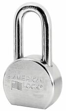 "American Lock A701D Steel Padlock, 2-1/2"" hardened chrome plated solid steel bod"