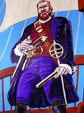 BLACK SAILS CAPTAIN FLINT PAINTING pirate of treasure island stephens christmas